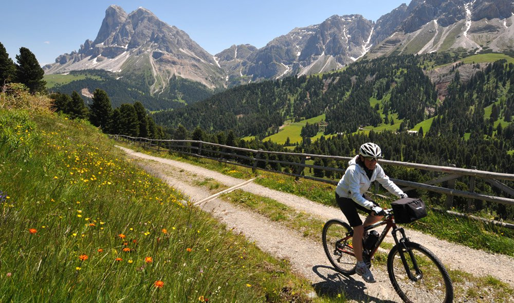 Cycling Holidays on Mt. Plose promises comfort and challenges